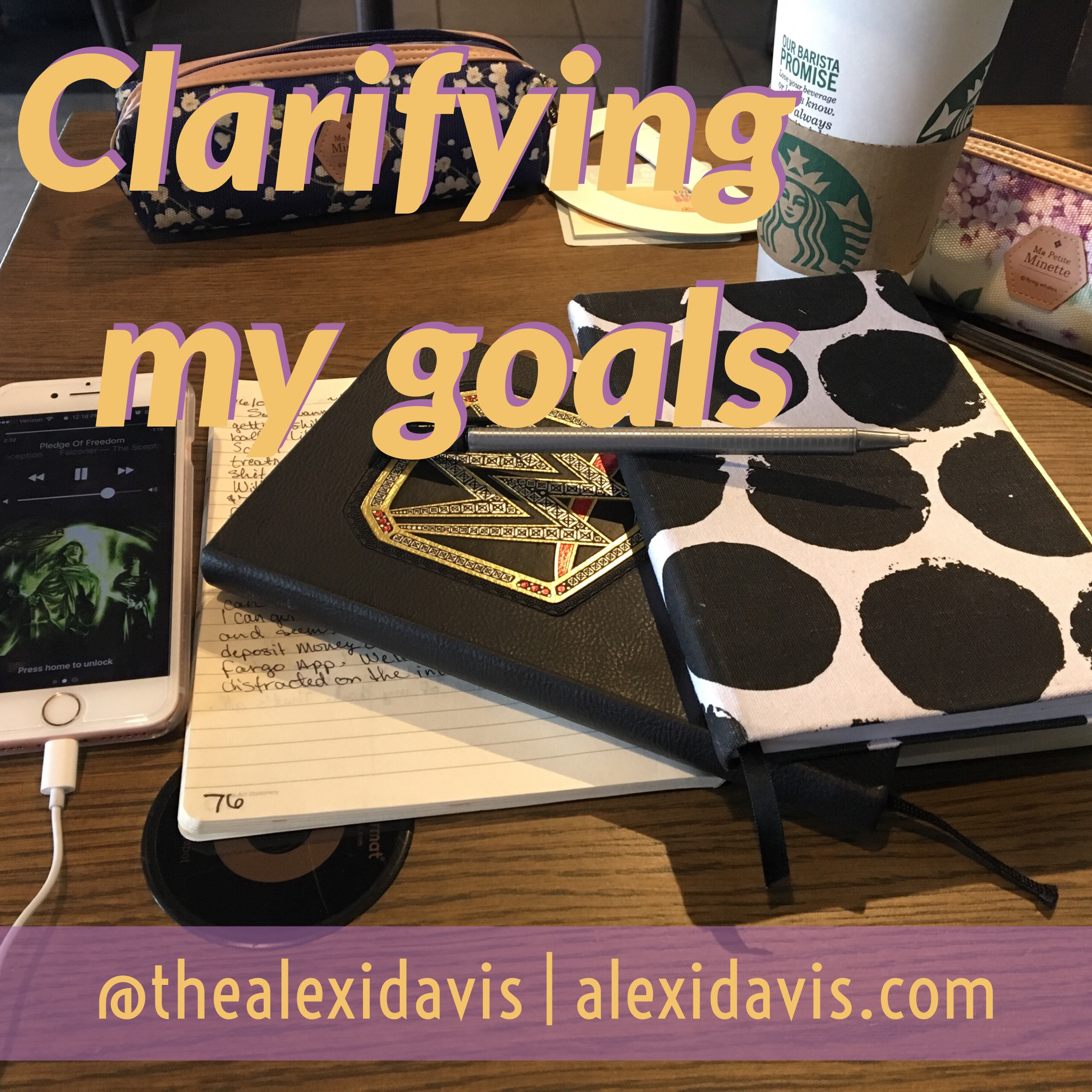 <p>Last week I showed you my tools and detailed my journal set up. But I realized that clarifying my goals is crucial to being able to accomplish them.</p>